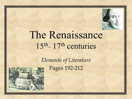 The Renaissance 15th_ 17th centuries