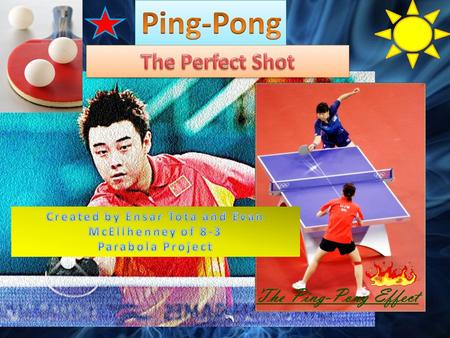 Ping-pong, or table tennis is a sport or hobby that requires hand-eye coordination and skill. The key point in ping-pong is for a person to serve the.