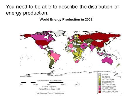 You need to be able to describe the distribution of energy production.