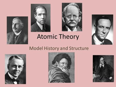 Atomic Theory Model History and Structure. I. Models of the Atom A. The Evolution of Atomic Models 1. He believed that there had to be a basic building.