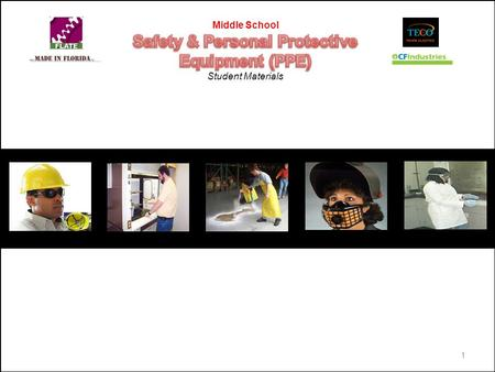 1. Personal Protective Equipment (PPE) 1. PPE Identification You are given a series of pictures showing workers wearing various PPE. Study each picture.