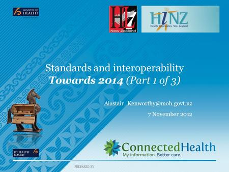 PREPARED BY Standards and interoperability Towards 2014 (Part 1 of 3) 7 November 2012.