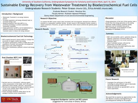 Introduction / Background Wastewater Treatment is an energy intensive process Increased population and energy demands leads to increased energy costs Bioelectrochemical.