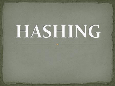 Hashing is a method to store data in an array so that sorting, searching, inserting and deleting data is fast. For this every record needs unique key.