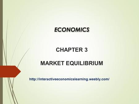 MARKET EQUILIBRIUM  Market equilibrium exists when quantity demanded (Qd) equals quantity supplied (Qs).