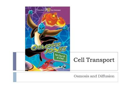 Cell Transport Osmosis and Diffusion.  Particles in constant motion  Run into each other and randomly spread out  Particles move from an area of high.