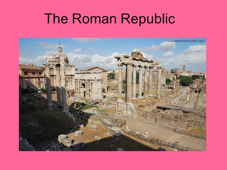 The Roman Republic. Using the glossary of your textbook, please define these words in your notebook. Consul Dictator Patrician Plebian Republic Senate.