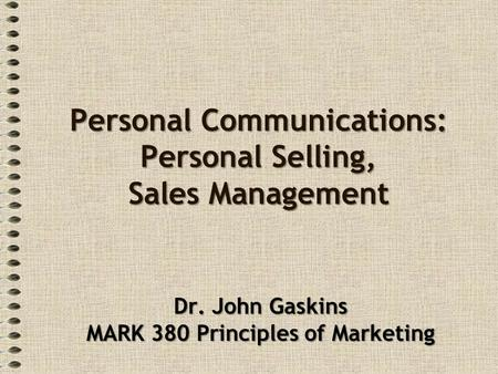 personal selling and sales management a relationship marketing perspective