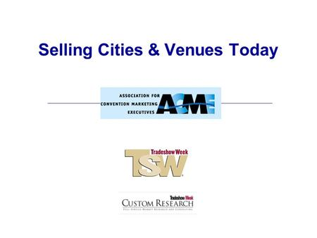 Selling Cities & Venues Today. Four Themes 1.Power Shift 2.Conventions & Tradeshows 2.0 3.Convention Centers 5.0 4.Selling Cities & Venues.