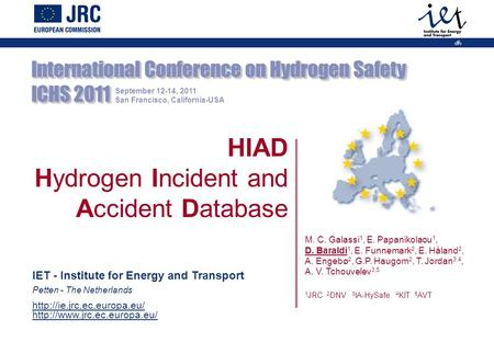 Hydrogen Incident and Accident Database