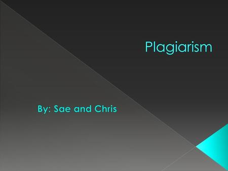  Understanding plagiarism is important because we need to know how to prevent from plagiarizing. If we don't know what plagiarism is and we copied some.