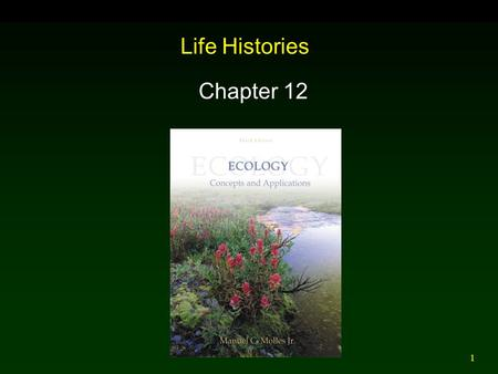 1 Life Histories Chapter 12. 2 Outline Offspring Number Versus Size  Animals  Plants Life History Variation Among Species Life History Classification.