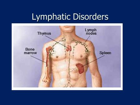 Lymphatic Disorders. References Therapeutic Exercise: Foundations and Techniques by Kisner and Colby. 5 th Edition, Pages 834 - 847. Goodman and Snyder,