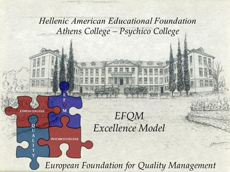 Hellenic American Educational Foundation Athens College – Psychico College EFQM Excellence Model European Foundation for Quality Management ATHENS COLLEGE.