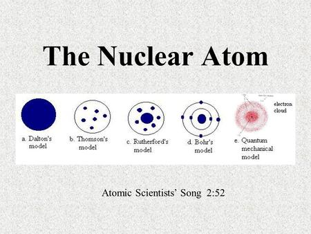 The Nuclear Atom Atomic Scientists' Song 2:52. Aristotle (460 B.C. – 370 B.C.) emphasized that nature consisted of four elements: air, earth, fire, and.