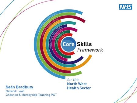 Seán Bradbury Network Lead Cheshire & Merseyside Teaching PCT.