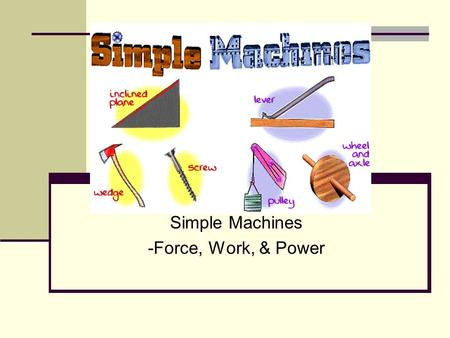 Simple Machines -Force, Work, & Power