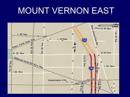 "MOUNT VERNON EAST. """"The neighborhood east of the Washington City Museum unfolds like a wasteland: 30 acres of parking lots and fields, bleakly interrupted."
