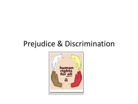 Prejudice & Discrimination. What's in a Word or Symbol? Racism is negative behaviour based on an incorrect assumption that one race is inherently superior.