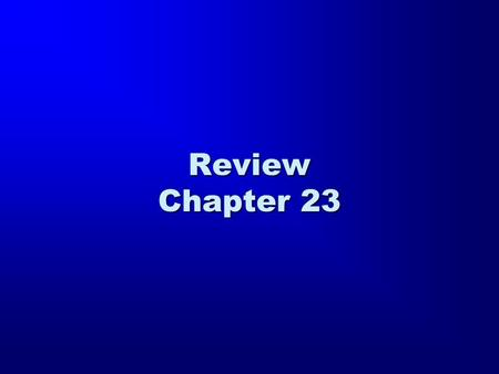 Review Chapter 23. eiv ouv poiw/ ta. e;rga tou/ patro,j mou( mh. pisteu,ete, moi If I do not do the works of My Father, do not believe Me (John 10:37).