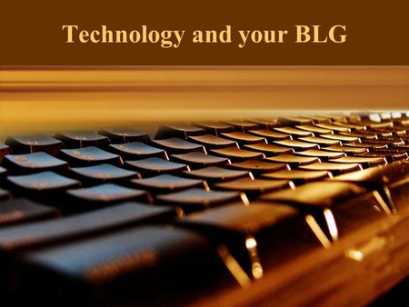 "Technology and your BLG. II Corinthians 4:6 - …""the ONE who has shone in our hearts to give the Light of knowledge of the glory of God in the face of."