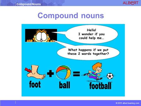 Compound Nouns © 2015 albert-learning.com Compound nouns.
