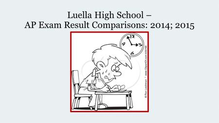 Luella High School – AP Exam Result Comparisons: 2014; 2015.
