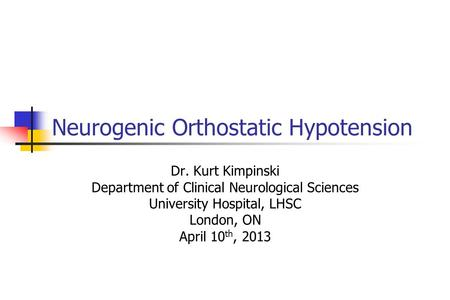management of neurogenic orthostatic hypotension an update pdf