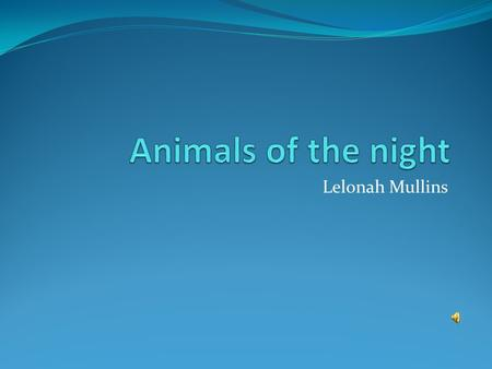 Lelonah Mullins. Characteristics Animals that sleep in the day and come out at night are called nocturnal. Many have very sensitive hearing. Most have.