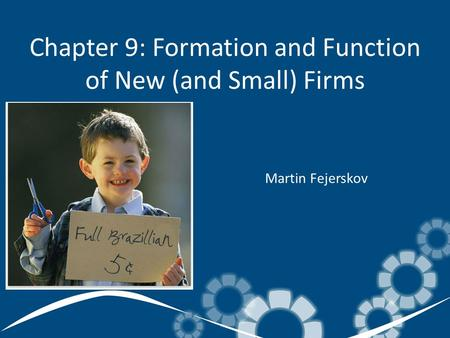 Chapter 9: Formation and Function of New (and Small) Firms Martin Fejerskov.