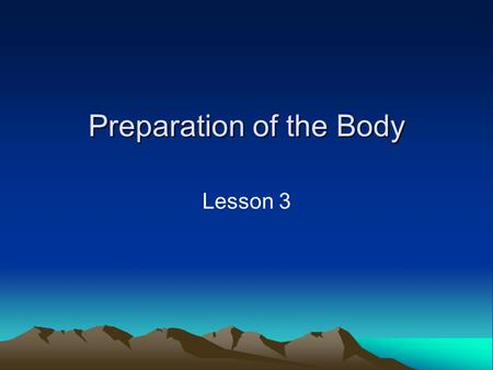Preparation of the Body Lesson 3. Lesson Objectives What are the aspects of skill related fitness? Which one of these is most important to badminton and.