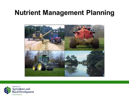 Nutrient Management Planning. 2 N Nitrogen P Phosphorus K Potassium ………NO 3 Nitrate ………P 2 O 5 Phosphate ………K 2 O Potash ……… Nutrients needed by grass.