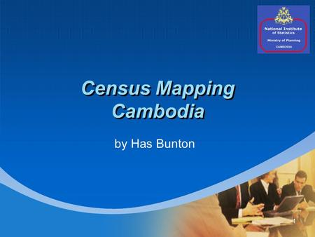 1 Census Mapping Cambodia by Has Bunton. 2 Agenda 1. Organization 2. Census Mapping Activities 3. Mapping Issues 4. Presentation and Dissemination.