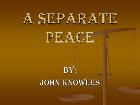 a separate peace john knowles essay A separate peace by john knowles essay on studybaycom - religion, essay - phdexpertt | 277958.