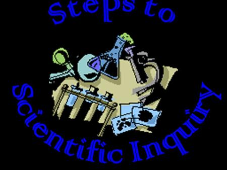 "Each step of scientific inquiry corresponds to one letter in the ""word"". These letters represent the first letter of each word involved in scientific."
