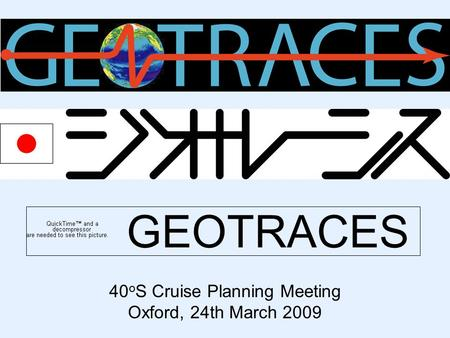 GEOTRACES 40 o S Cruise Planning Meeting Oxford, 24th March 2009.