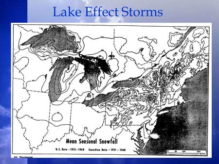 Lake Effect Storms. Lake Effect Storm Types Wind/Shear Parallel Bands Shore Parallel Bands –Shore based –Midlake Mesoscale Vortex.