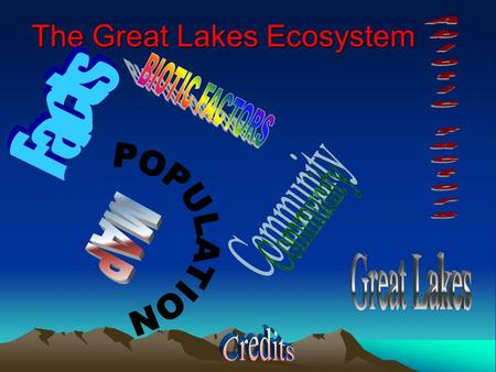 The Great Lakes Ecosystem