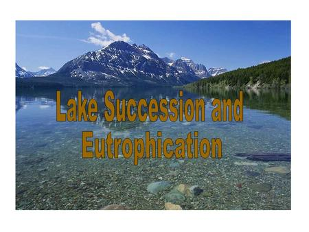 Lake Succession - Trophic States OligotrophicMesotrophicEutrophicExtinction.
