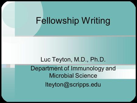 fellowships for science writers