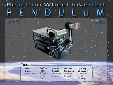 Outline Introduction Reaction Wheels Modelling Control System Real Time Issues Questions Conclusions.