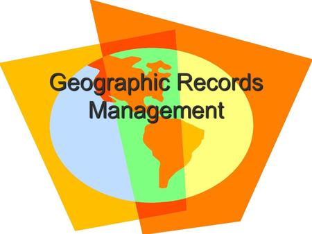 Geographic Records Management.   book.pdf  book.pdf