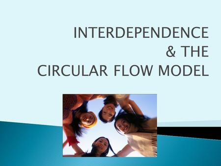 INTERDEPENDENCE & THE CIRCULAR FLOW MODEL. Households Businesses Government.