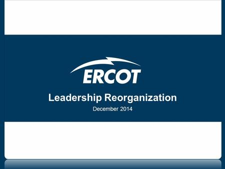 Leadership Reorganization December 2014. 2 Key elements Recognizes IT's critical role Centralizes Operations Coordinates compliance Centralizes the operations.