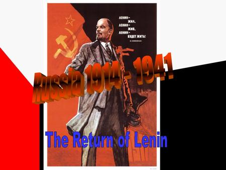 Lenin had been in exile since 1903 and when he heard about the revolution in Russia he was keen to return to Petrograd The Germans were keen to end the.