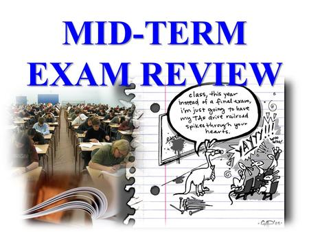 MID-TERM EXAM REVIEW. Format Part One: Short Story and Essay Response – 40% Part Two: Literary Terms – 10% (multiple choice pertaining to short story)