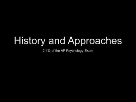 The History of Psychology Before Psychology was a Defined Field.