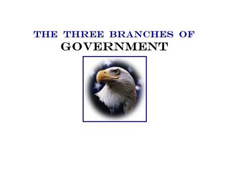 THE THREE BRANCHES OF GOVERNMENT United states government The Constitution created a government of three equal branches, or parts. The Constitution is.