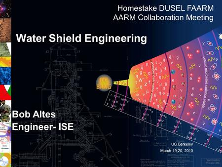 1 Homes take DUSEL NSF Preliminary Baseline Review - April 13-15, 2010 Bob Altes Engineer- ISE Water Shield Engineering Figure Courtesy PDG and LBNL Homestake.