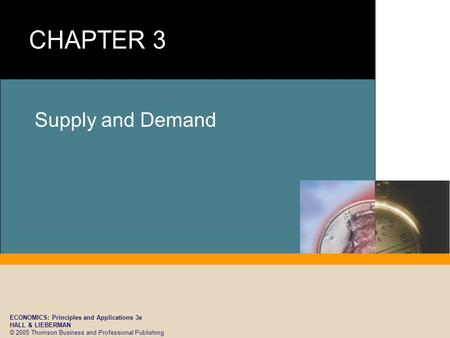 ECONOMICS: Principles and Applications 3e HALL & LIEBERMAN © 2005 Thomson Business and Professional Publishing Supply and Demand.